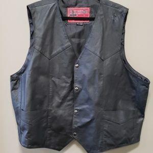 Bikestar Leather Motorcycle Vest